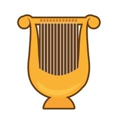cartoon harp lyre music classic vector image vector image