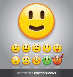 emotion icons vector image