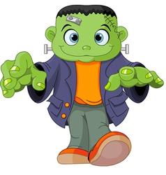 Frankenstein kid vector image vector image