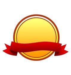 Round badge vector image