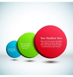 Colorful 3D circle background vector image vector image