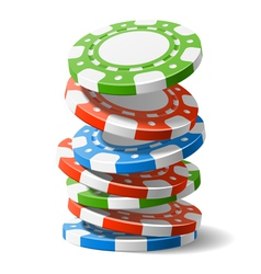 falling casino chips vector image vector image