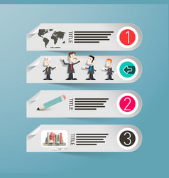 infographics paper infographic design with people vector image vector image