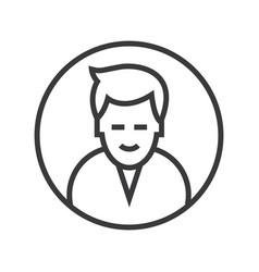 man circle avatar line icon sig vector image vector image