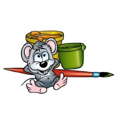mouse painter vector image