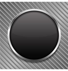 Round Black Board vector image vector image