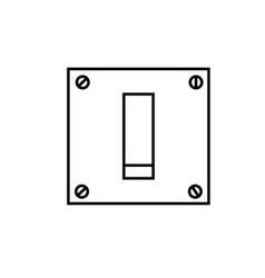 switch off icon vector image vector image