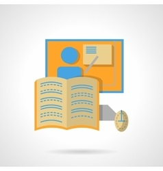 Web education flat color design icon vector image vector image