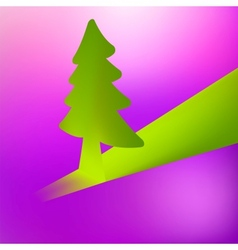 3D Christmas tree background EPS8 vector image vector image