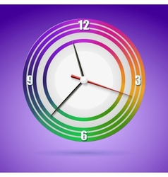 Bright watch with a dial of the rainbow vector image