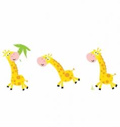 cartoon giraffe vector image vector image