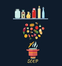 Cooking background with vegetables vector image