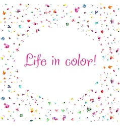life in color background vector image