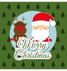 Merry christmas colorful icon graphic vector image