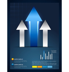 rising arrow infographic template vector image vector image