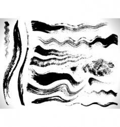 vector ink brush strokes set vector image vector image