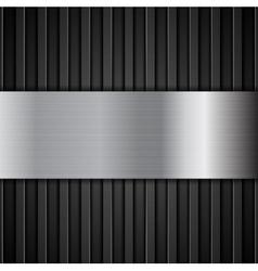 Abstract tech metallic dark background vector image vector image