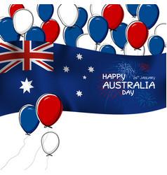 australia day design on white background vector image vector image