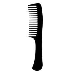 Black hair comb vector image vector image