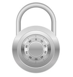 combination lock 03 vector image vector image