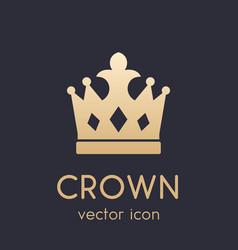 crown logo element icon vector image