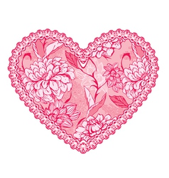 heart lace pattern 1 380 vector image