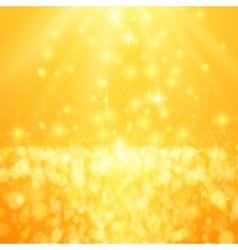 Lights on yellow background bokeh effect vector image