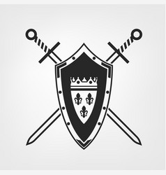medieval shield image vector image