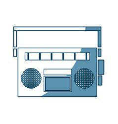 vintage stereo radio music audio vector image