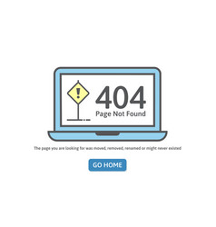 404 concept error line icon page not found error vector image