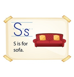 A letter s for sofa vector