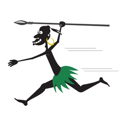 Aboriginal running vector image