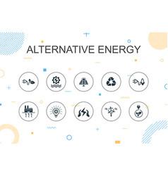 Alternative energy trendy infographic template vector