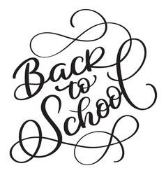 Back to school words on white background hand vector