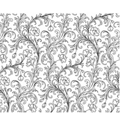 baroque style pattern vector image