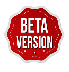Beta version label or sticker vector