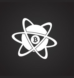 Bit coin core on black background vector