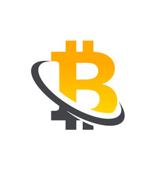 Bitcoin logo icon vector