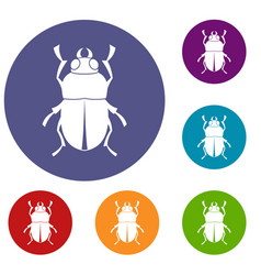 Bug icons set vector