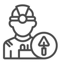 builder line icon engineer vector image