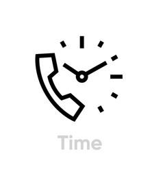 call time icon editable line vector image