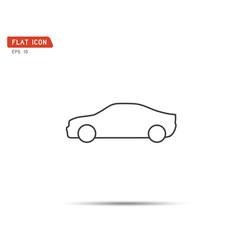 car icon flat logo vector image
