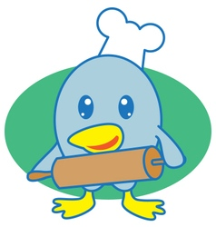 Chef Bird vector