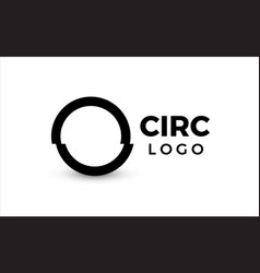 circle logo concept primitive geometric shape vector image