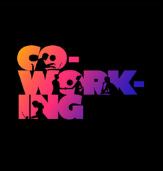 co-working business concept design vector image