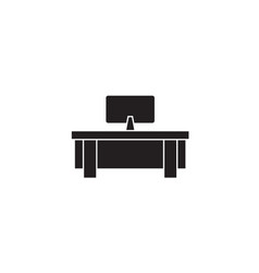 computer table black concept icon computer vector image