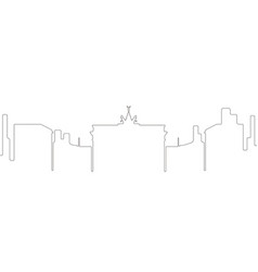 Continous line skyline of berlin vector