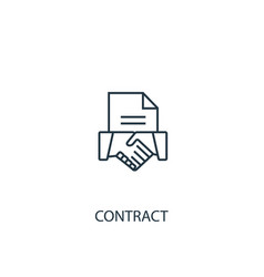contract concept line icon simple element vector image