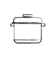 Cooking pot casserole vector