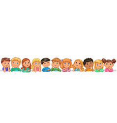 Cute kids happy blank banner vector